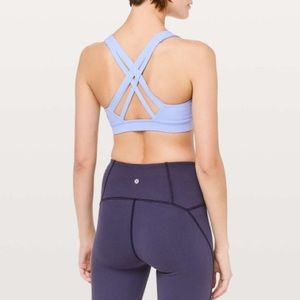 Lululemon Stash N' Run Bra Hydrangea Blue 4